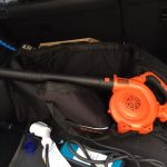 アウトランダーの洗車で大変な点|電動ブロワーはおすすめできるのか?