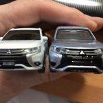 トミカ製アウトランダーPHEVミニカー|ディテール比較